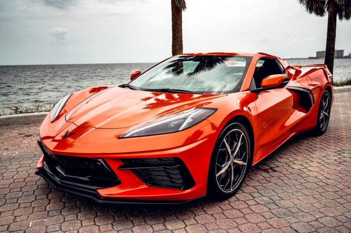 Chevrolet Corvette 2021 Convertible Orange